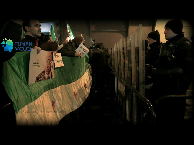 صورة اسطنبول على وقع الألم الحلبي..اعتصامات وتضامن