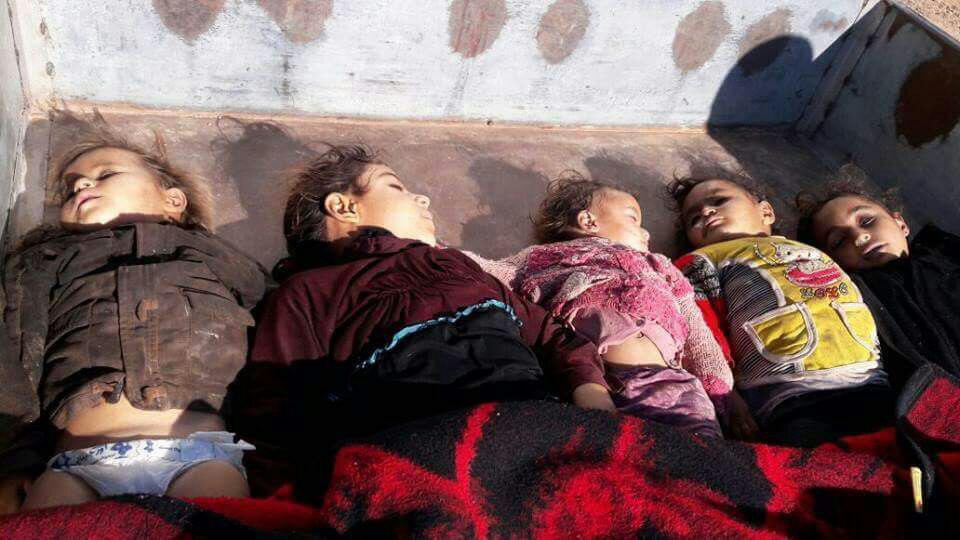 صورة الأسد يعاود استخدام الكيماوي قاتلاً العشرات بحماة