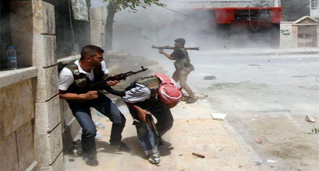"""صورة مواجهات في اليرموك بين تنظيم """"الدولة"""" وحركة فلسطين"""