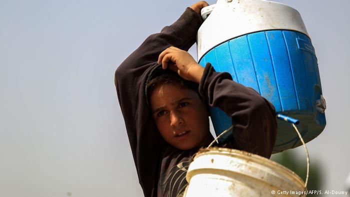 صورة مخيم درعا بلا ماء منذ ألف يوم