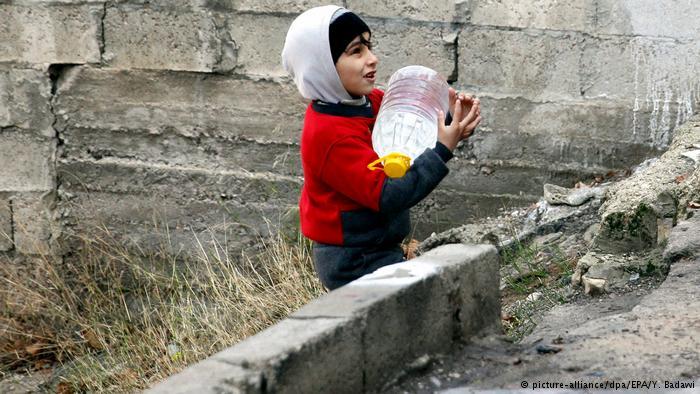 صورة بالصور: أزمة المياه في دمشق بين المنبع والمصب