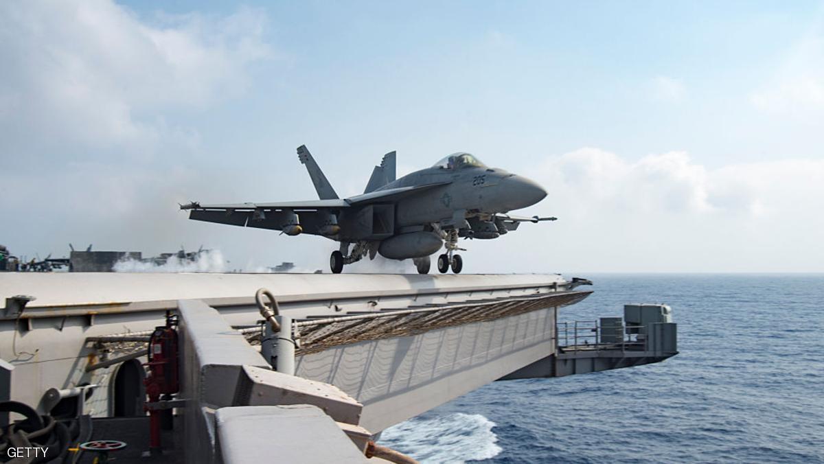 صورة حاملة طائرات نووية أمريكية إلى مياه الخليج