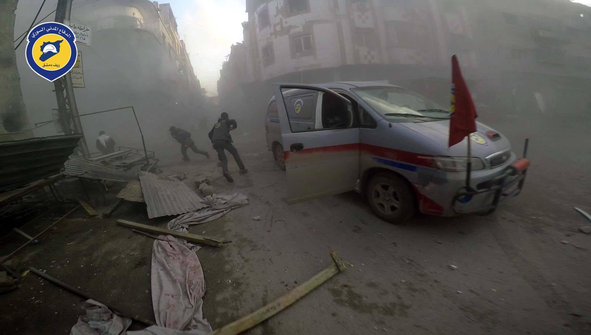 صورة 11 اعتداء على نقاط طبية ومراكز للدفاع المدني خلال شهر
