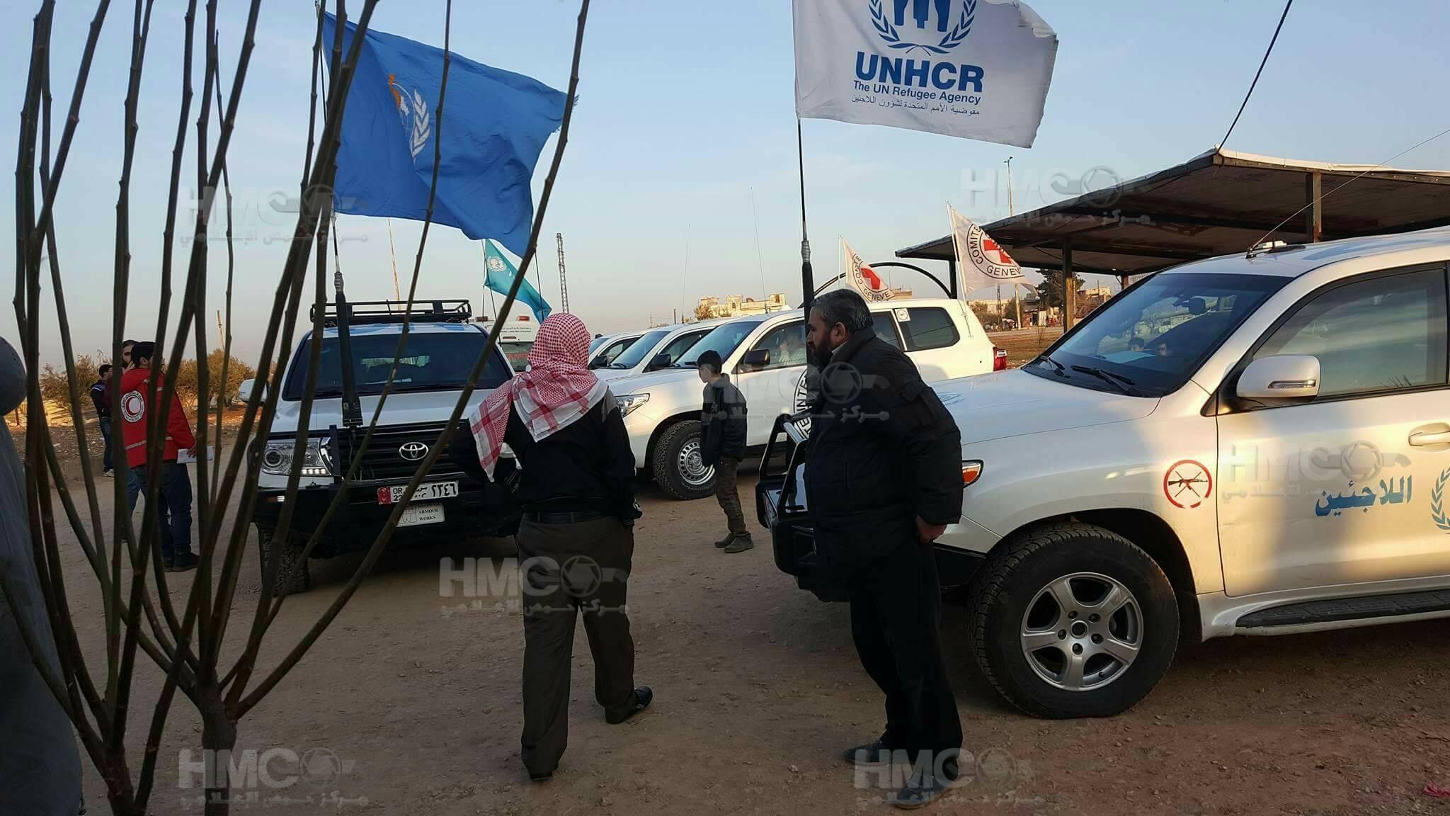 صورة ميليشيا شيعية تختطف قافلة أممية في حمص