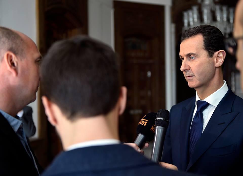 صورة شريطة الإعتراف بسيادته..الأسد يرحب بقوات أمريكية في سوريا