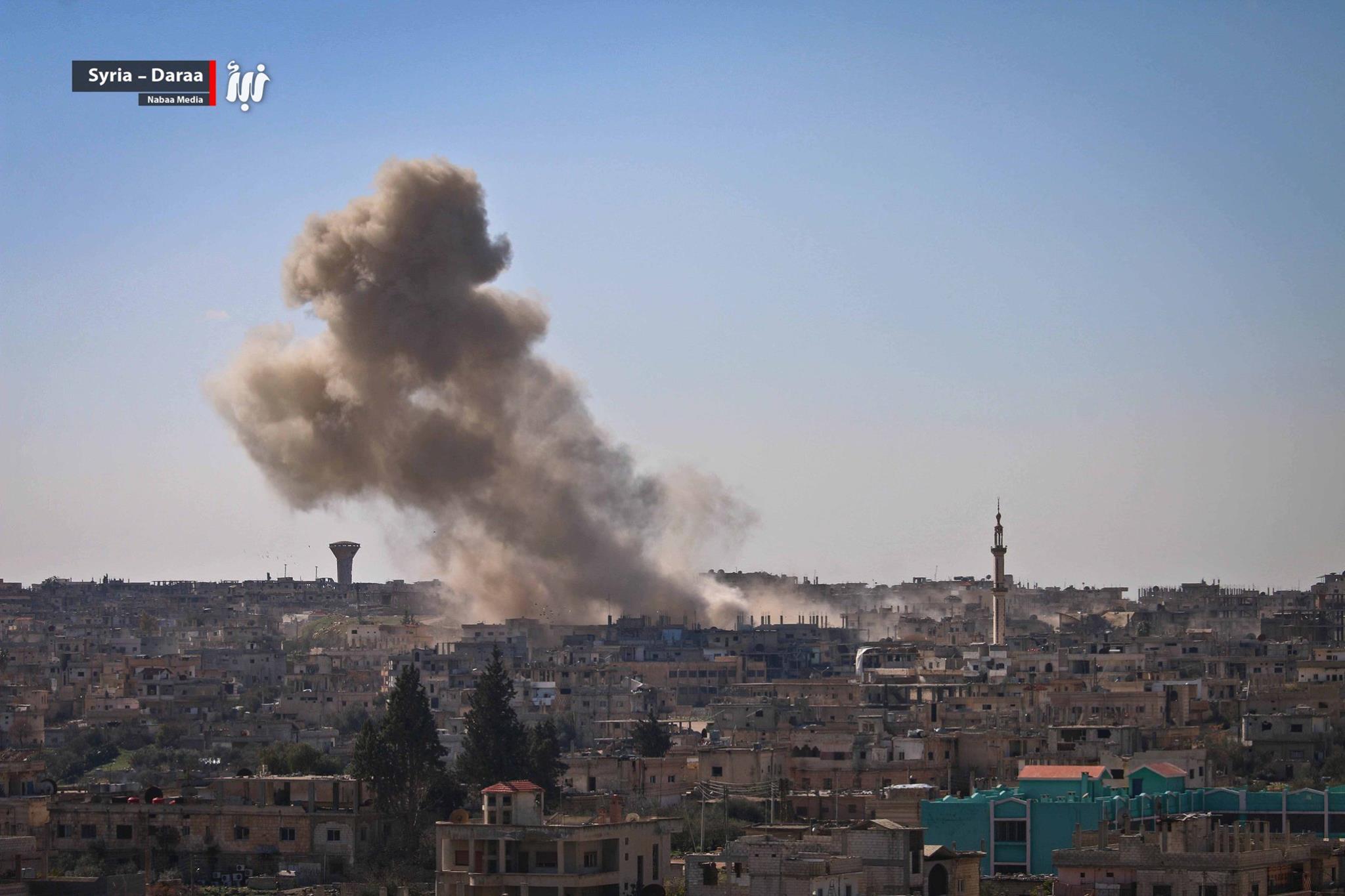 صورة تصعيد عسكري روسي غير مسبوق على درعا