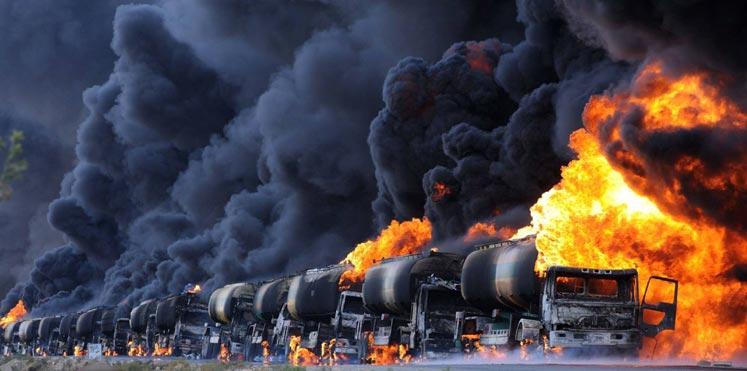 صورة البنتاغون: استخدمنا آلاف قذائف اليورانيوم ضد تنظيم الدولة