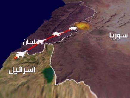 صورة مرورا من لبنان.. غارات إسرائيلية قرب دمشق