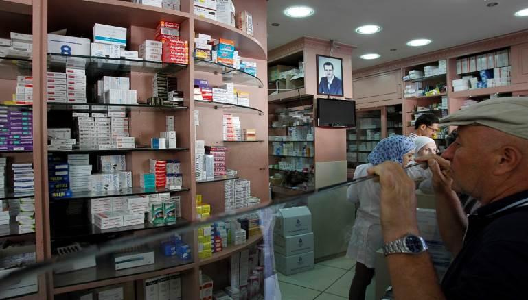 صورة %60 من الأدوية العامة مفقودة في دمشق