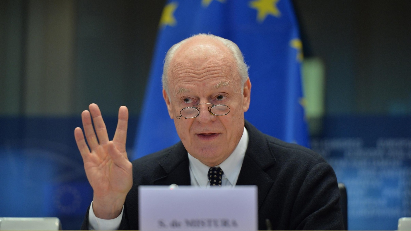 صورة ديمستورا لا يتوقع انفراجا في جنيف..وطلب مفاجئ للمعارضة