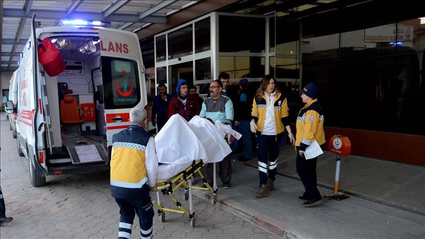 صورة تركيا تستقبل 15 جريحا من درع الفرات أصيبوا مؤخرا