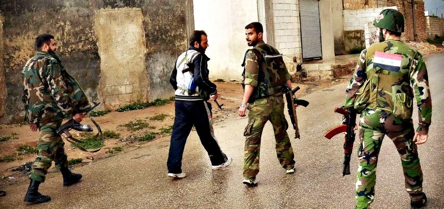 صورة إصابات بهجوم عسكري لمخابرات الأسد على حفل زفاف