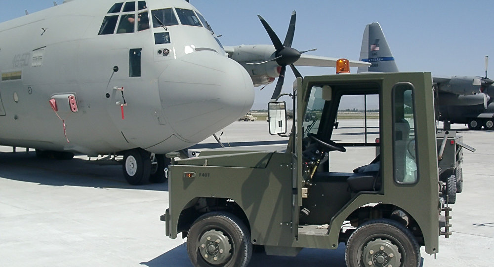 """صورة قاعدة جوية أمريكية في """"القيارة"""" العراقية"""