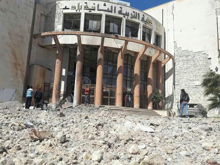 صورة على وقع الهدنة..مدارس إدلب والجامعات تحت النار