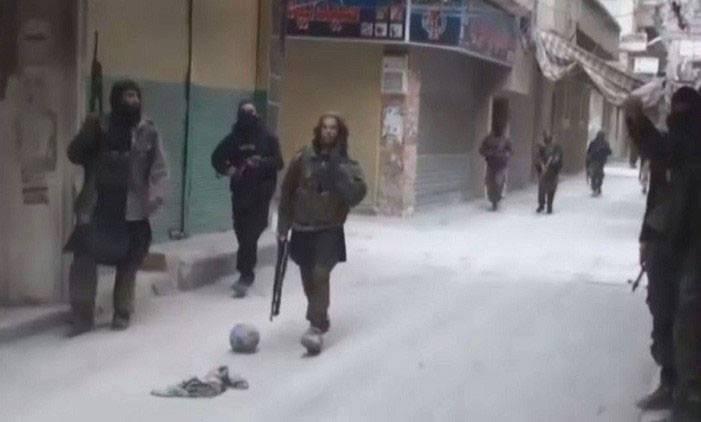 """صورة تنظيم """"الدولة"""" بمخيم اليرموك أعدم 4 فلسطينيين بينهم مسلحين"""