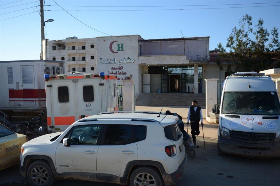 صورة افتتاح أول مشفى ميداني في الباب بحلب