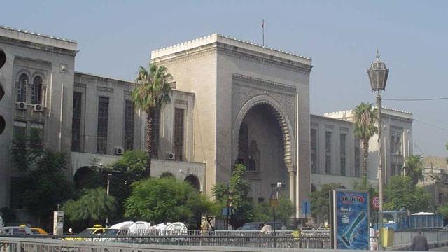 صورة تفجير يطال قصر العدل بدمشق وعشرات القتلى