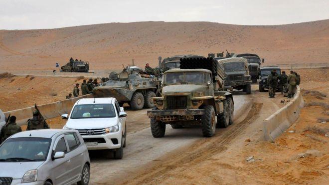 """صورة المعارضة: لعبة الأسد وتدمر تشبه """"توم وجيري"""""""