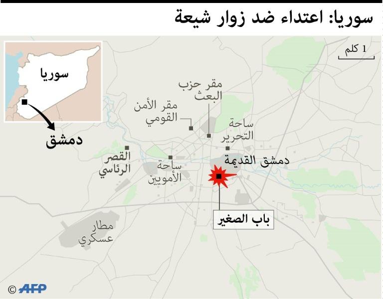 صورة ارتفاع قتلى تفجيري دمشق لـ74 وتحرير الشام تتبنى