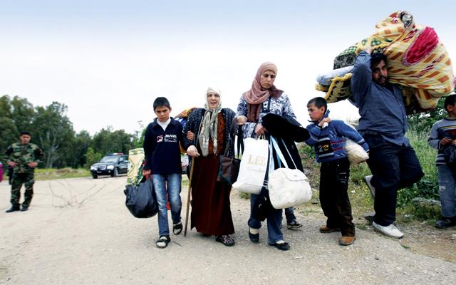صورة نزوح عكسي من السويداء إلى درعا