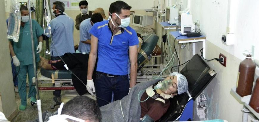صورة لجنة دولية: الأسد استخدم أسلحة محرمة بحلب