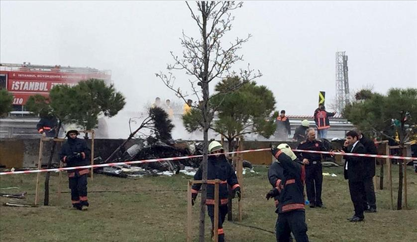 صورة مقتل 4 رجال أعمال روس بتحطم مروحية خاصة في اسطنبول