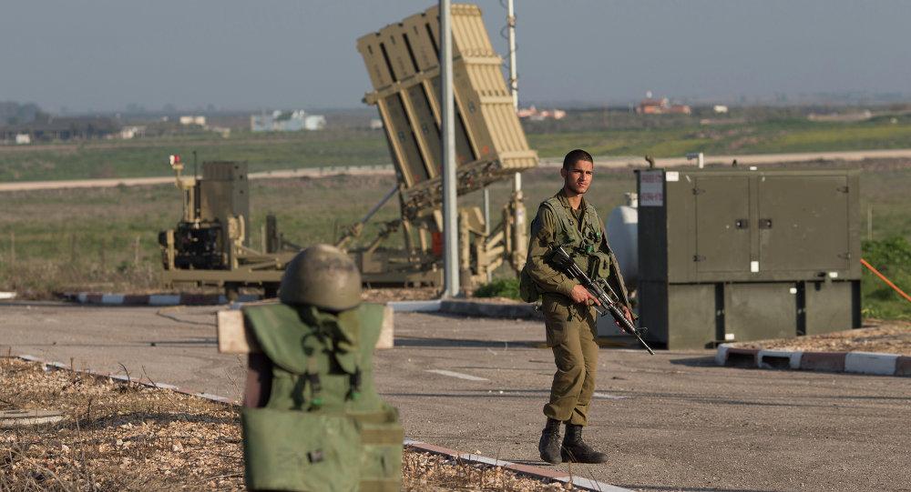 """صورة """"الباتريوت"""" الإسرائيلي يسقط هدفا في الجولان"""