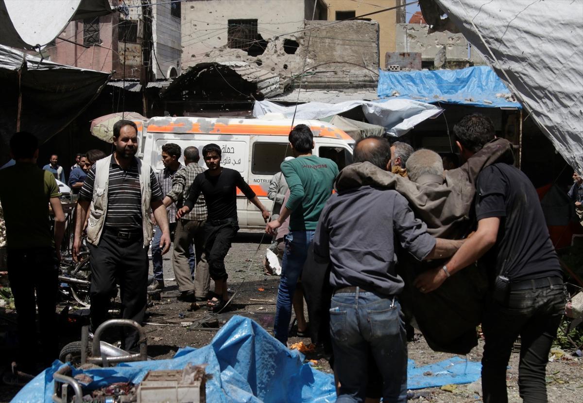 صورة 24 ضحية في قصف روسي طال نازحين بإدلب
