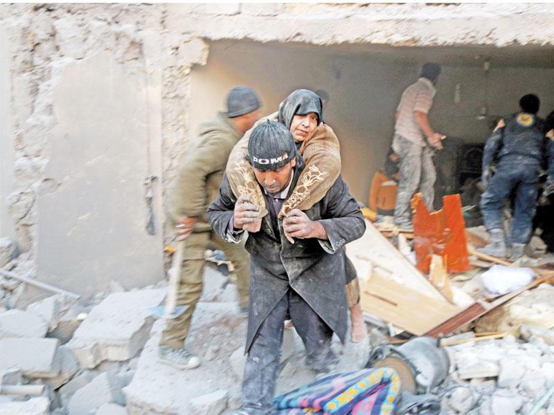 """صورة الأمم المتحدة: قصف مشافي إدلب """"مروع"""""""