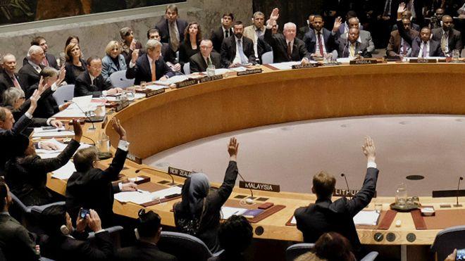 صورة اجتماع طارئ لمجلس الأمن بعد الهجوم الكيماوي