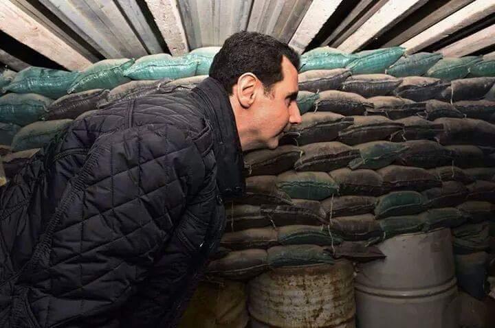 """صورة بعد التوماهوك..الأسد مذعور وممنوع من """"الهاتف"""""""