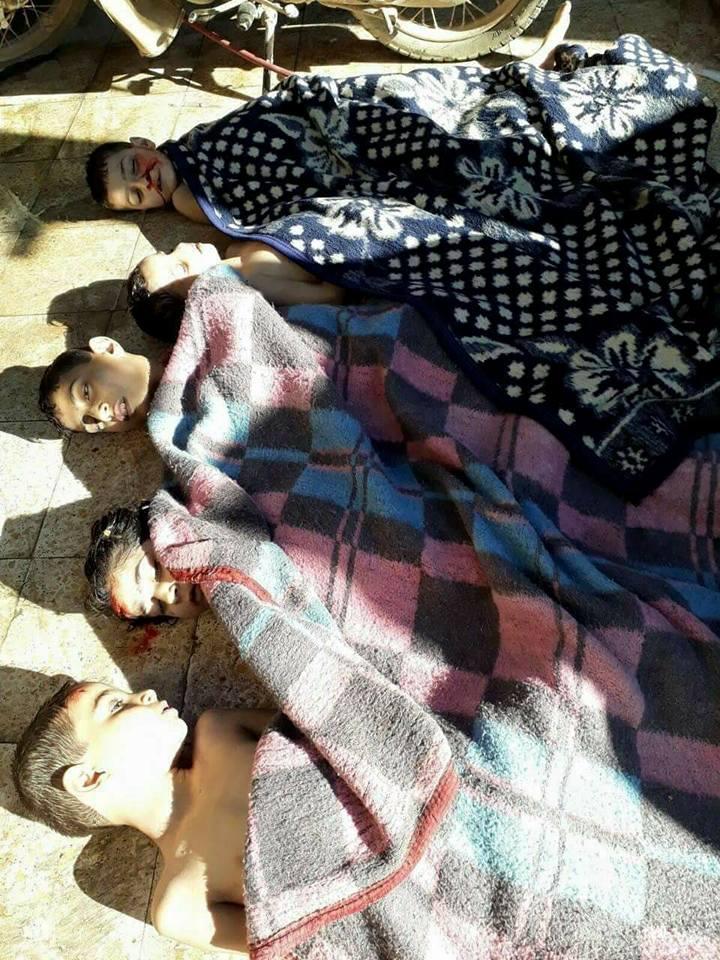صورة خان شيخون..الإبادة الجماعية بالغازات السامة