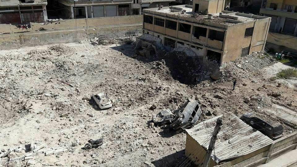 """صورة إعلان ريف حماة منطقة """"منكوبة"""" بالكامل"""