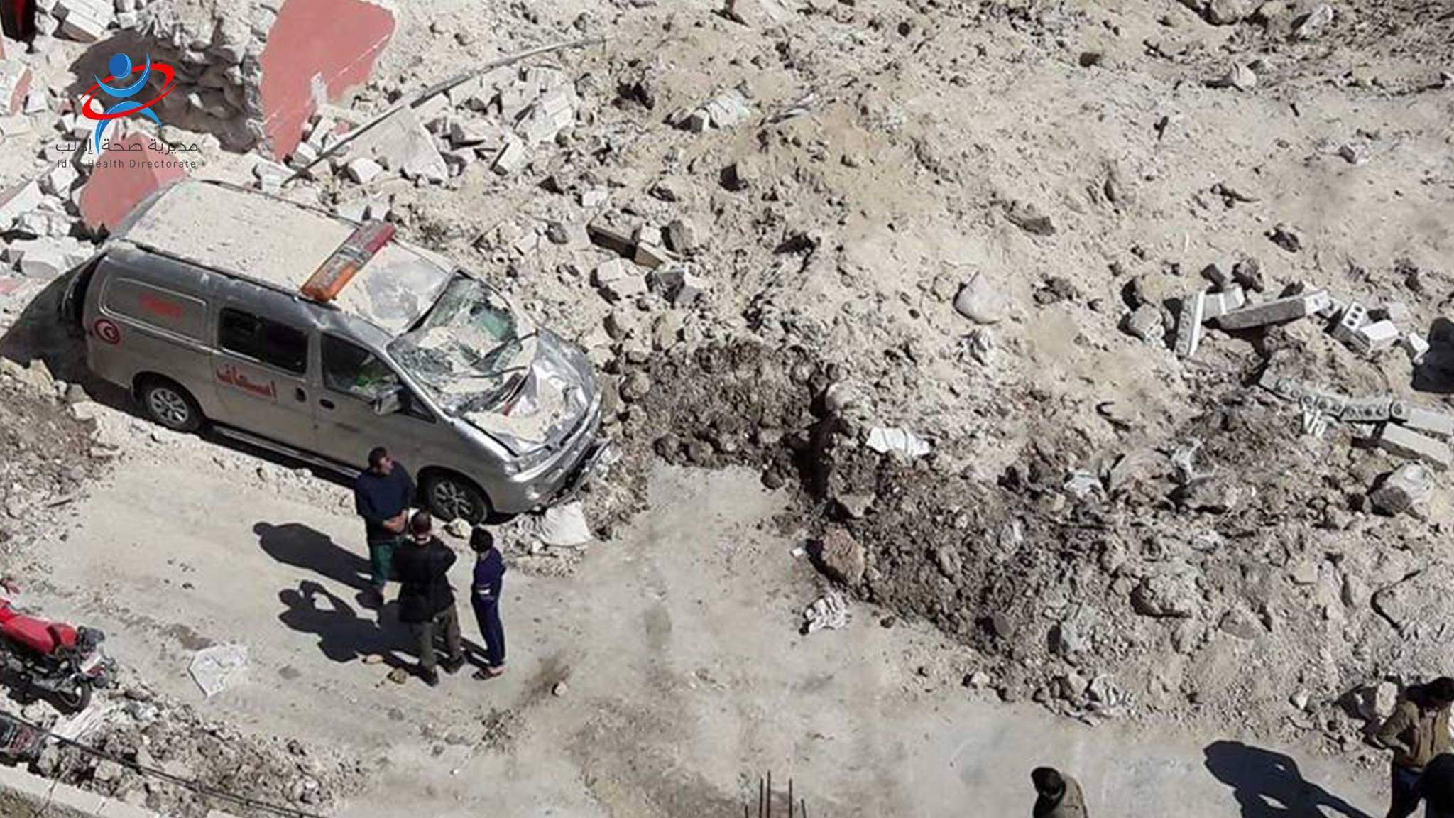 صورة مديرية صحة إدلب في عين العاصفة
