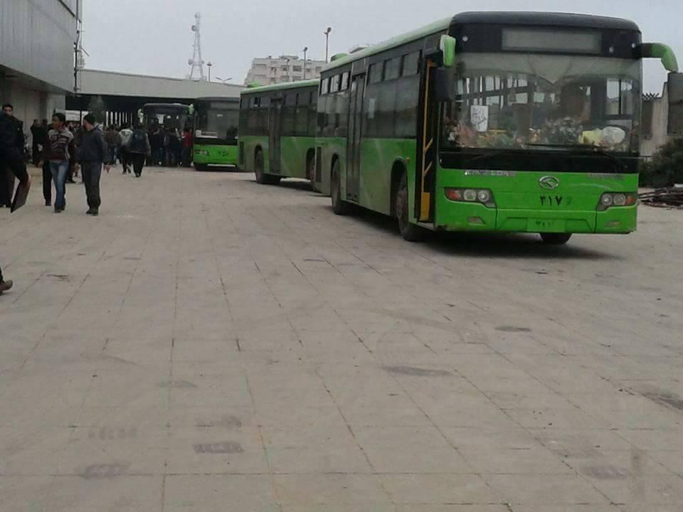 صورة استكمال تهجير حي الوعر الحمصي