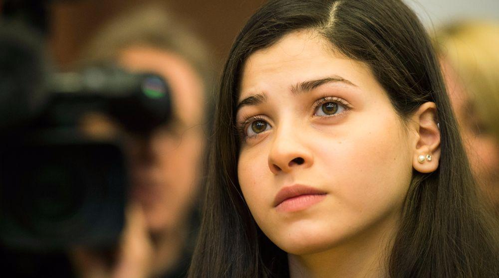 صورة لاجئة سورية..أصغر سفيرة للنوايا الحسنة