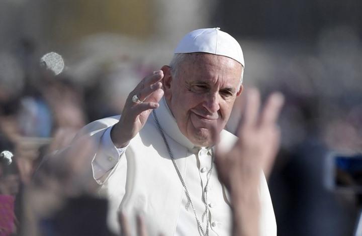 """صورة """"بابا الفاتيكان"""" يخاطب سوريا..فماذا قال؟"""