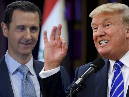 صورة ترمب يطمأن الأسد سراً: إسقاطك سيختفي