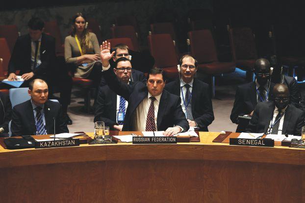 صورة فيتو روسي بمجلس الأمن والصين تمتنع
