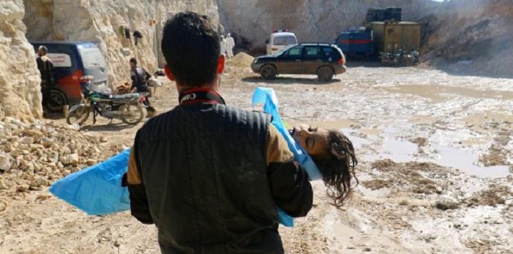 """صورة منظمة حظر الأسلحة: هجوم خان شيخون استخدم فيه """"السارين"""""""