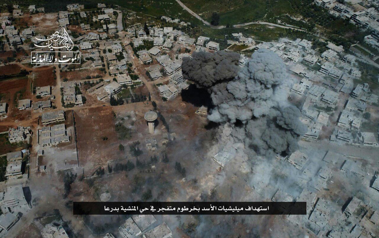 صورة مواقع استراتيجية تحت سيطرة ثوار درعا