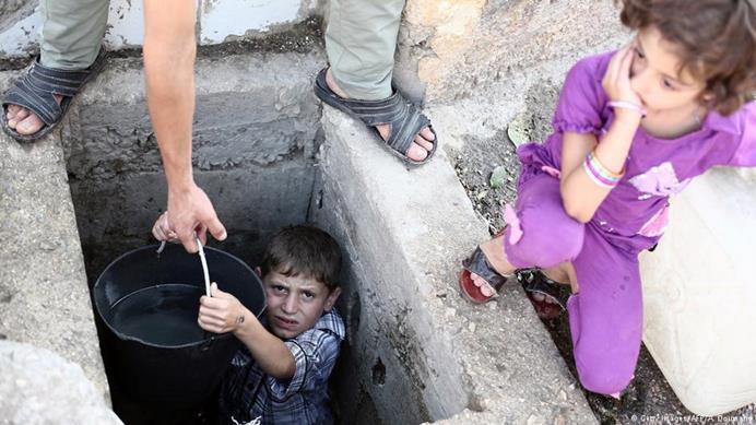 صورة أمراض خطيرة جنوبي دمشق جراء المياه الملوثة