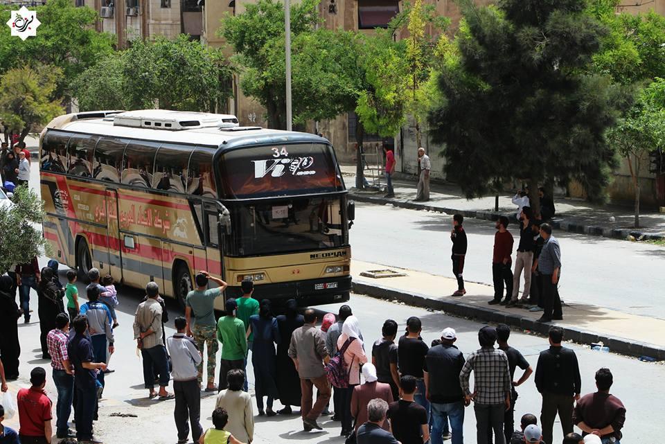 صورة تهجير ثالث دفعات حي برزة (صور)