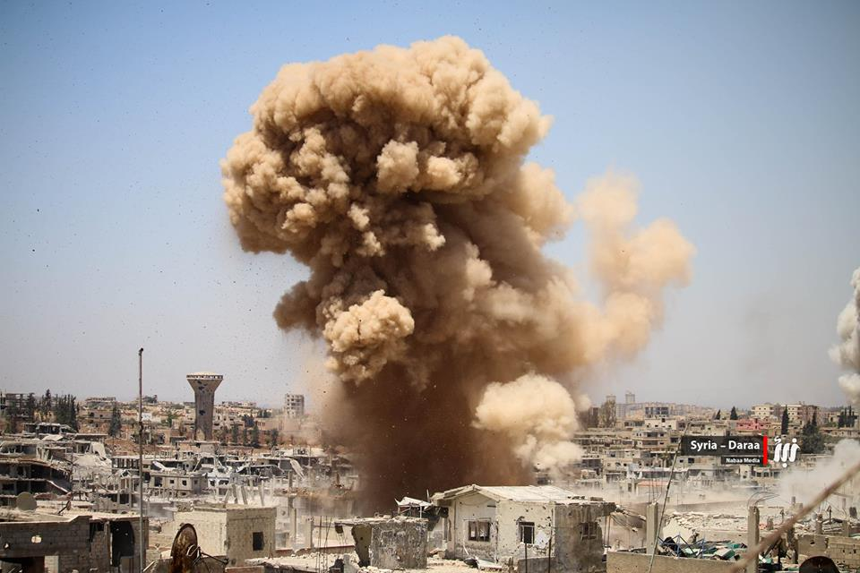 صورة النظام يهاجم درعا والمعارضة تكبده خسائر
