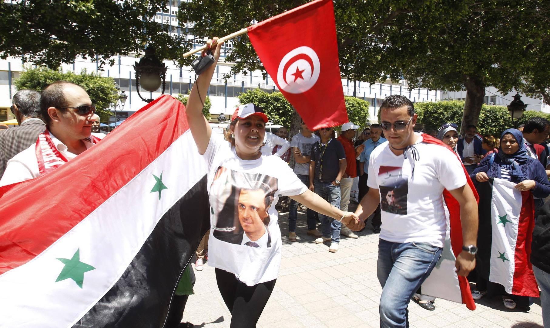 صورة للأسد…شبيحة تونسيون أيضا!