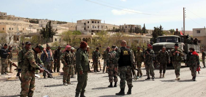 """صورة خسائر عسكرية للأسد بهجمات للتنظيم في """"خناصر"""""""