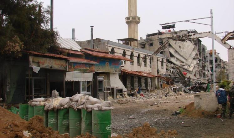 صورة تشديد أمني للتنظيم جنوب دمشق ومواجهات مسلحة