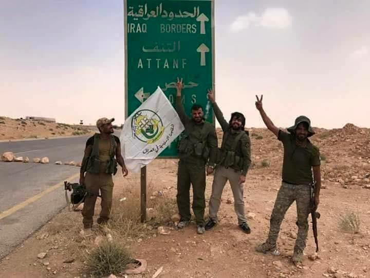 صورة الحشد العراقي يصل الحدود السورية