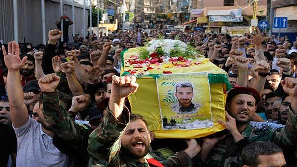 صورة مصرع عنصر لحزب الله بسوريا