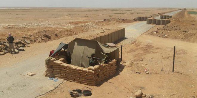 صورة معبر تجاري بين بادية الشام والعراق بإشراف الحر
